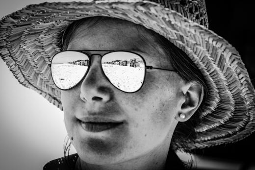 Beach in the Sunglasses